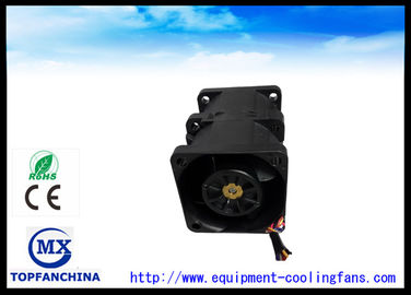 40mm x 40mm x 56mm Black Twins Computer Case Cooling Fan / DC Cooling Fan For Laptop